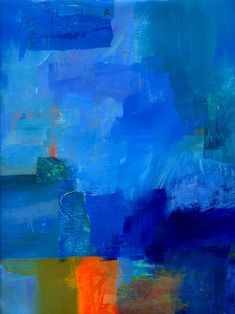 blue abstract art for wall decor