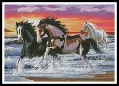 click here to view larger image of Horses on a Beach (chart)