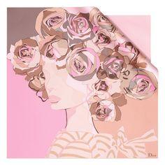 Dior Autumn- Winter 2012 Square collection: pink silk twill square. Discover more on www.dior.com