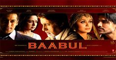babul a movie on a father in law (Amitabh Bachchan) supporting his daughter in law (Rani Mukherjee) after the death of his son (Salman Khan) and their fight against the society...a must watch on www,zengatv.com