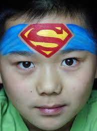 superhero face paint - Google Search                                                                                                                                                                                 More