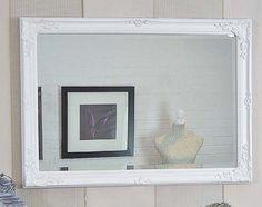 Large white shabby chic mirror