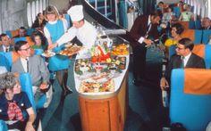 Vintage plane food service