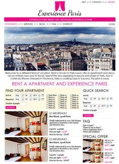 Un projet de site de location saisonnière à Paris. Malheureusement, le projet du client n'a pas abouti...