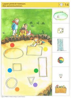 Piccolo: meisje kaart 14 Labyrinth Game, Shape Books, Shape Matching, Perception, Kids Learning, Kids Rugs, Shapes, Album, Teaching