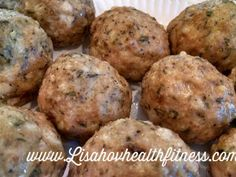 Chicken Parmesan Meatballs 21 Day Fix Containers(per 2 meatballs): 1 Blue, 1/2 Red