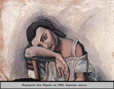 Portrait of Anna  Maria - Salvador Dali 1924