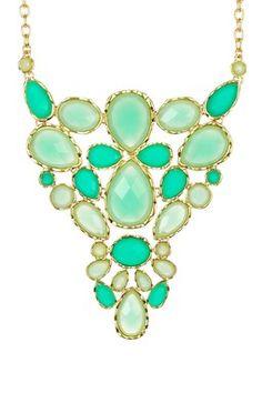 HauteLook   Necklaces: Olivia Welles Bezeled Stone Decorative Statement Bib Necklace