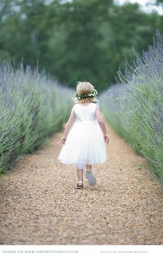 { Picnic Wedding}- The tall Lavenders created a natural backdrop