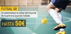 el forero jrvm y todos los bonos de deportes: bwin futsal 50 euros reembolso: jornada 19 de LNFS...