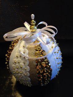 Handmade sequin ornament