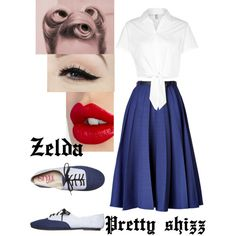 Um....I'm getting those pin up/rockabilly/vintage vibes today by zelda-kahtan on Polyvore featuring polyvore, fashion, style, American Apparel, Vionnet, Charlotte Tilbury, Anatomy Of and vintage