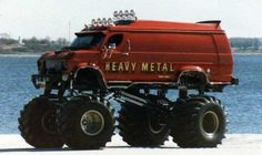 how to recycle an old transporter. yeah, let's make a monster truck out of it! Custom Trucks, Lifted Trucks, Cool Trucks, Chevy Trucks, Pickup Trucks, Lifted Van, Monster Trucks, Pt Cruiser, Cool Vans