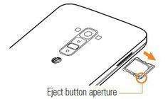How To Insert Micro SIM Card - LG G Flex