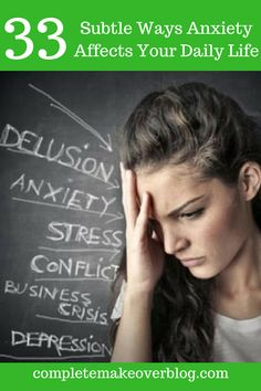 We all know what it's like to be anxious, but unless you're one of the 40 million adults in the U.S. who has an anxiety disorder, it's hard to understand how significantly persistent anxiety can affect your daily life. Because anxiety is more than worrying. It creeps up in different ways, and even has varying physical effects. To understand more about how anxiety affects people in their daily lives, we asked our people in our mental health community to share a subtlesign of their anxiety. Here' Anxiety Disorder, Stress And Anxiety, Anxious, How To Relieve Stress, Disorders, No Worries, Physics, Depression, Mental Health
