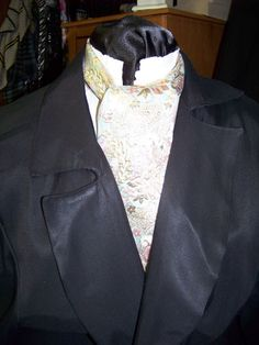 Cravat or Ascot In a Aqua pink Mauve and Metalic by lavonsdesigns