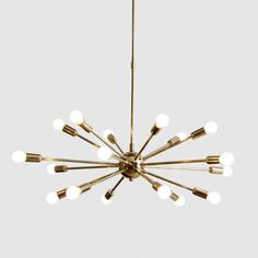 midcentury modern lighting. Mid Century Modern 18 Arm Brass Sputnik Atomic By Nauticalvintagee Midcentury Lighting