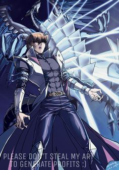Kaiba And BECMD (Colored) by Ycajal on DeviantArt. Blue Eyes Chaos Max Dragon is so cool looking!