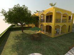 Condos with huge outdoor space. Hacienda del Rio. Playa del Carmen real estate