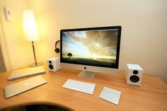 Mac Everywhere! This will be my desk in my house!