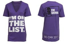 Tri sigma bid day shirt. so freakin cute