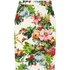 Buy your multicolour silk skirt Dolce & Gabbana on Vestiaire Collective, the luxury consignment store online. Second-hand Multicolour silk skirt Dolce & Gabbana Multicolour in Silk available. Floral Fashion, Look Fashion, Floral Pencil Skirt, Pencil Skirts, Below The Knee Skirt, Silk Skirt, Printed Skirts, Pretty Outfits, Passion For Fashion