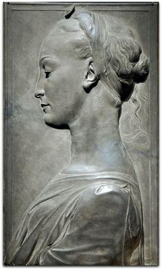 Young Woman, 1460-80 | Tuscan gray sandstone (Pietra serena), traces of paint Circle of Desiderio da Settignano