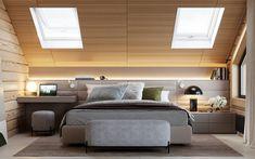 Modern Rustic Cabin With Cosy Small Room Ideas Attic Bedroom Designs, Attic Rooms, Bedroom Loft, Master Bedroom, Bedroom Decor, Modern Cabin Interior, Interior Design, Loft Conversion Bedroom, Ideas Dormitorios