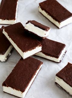 Classic Gluten Free Ice Cream Sandwiches - Gluten-Free on a Shoestring. ***Sub egg and use coconut milk ice cream for the filling***