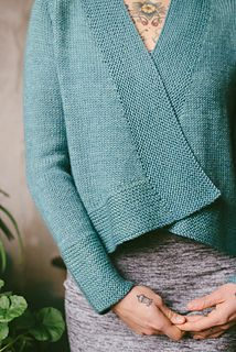 """Liv by Carrie Bostick Hoge ........ I well may have this pinned already but just came across this pic and love both the deep garter cuff and too the yarn which is from Kelbourne Woollens ... The Fibre Company Canopy Worsted 10ply. This is a top-down and in the round knit sized 31"""" to 57"""""""