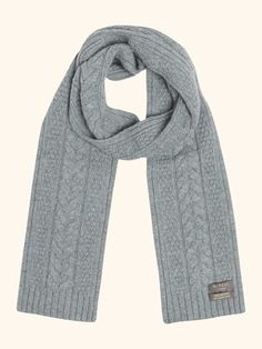 Cable Scarf in Serpentine Blue - N.PEAL Luxury Cashmere