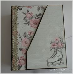 Pocket Album Hello creative lovers, today I´d like to share my new album. I ´ve found the inspiration here in mycreativespirit I . Vintage Winter, Spring Day, Craft Kits, Album Covers, Albums, Creativity, Stamp, Pocket, Mini