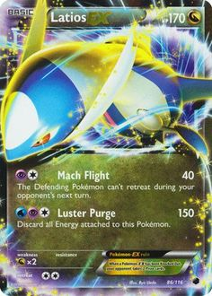 Hot New Release! Pokemon - Latios-EX (86/116) - Plasma Freeze - Holo - In the Pokemon Trading Card Game, players build decks around their favorite Pokemon and then play against each other, sending their Pokemon into battle to prove who the best Pokem