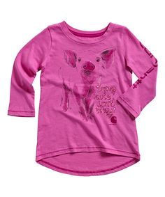 Look at this Carhartt Phlox Pink Being Cute Tee - Toddler on #zulily today!