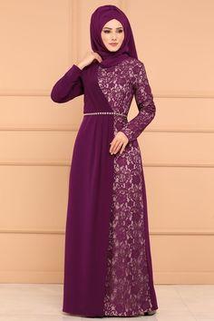 Modaselvim BUGÜNE ÖZEL Pile Detay Dantelli Abiye 4246S324 Şarabi Hijab Prom Dress, Hijab Evening Dress, Long Gown Dress, Muslim Dress, The Dress, Indian Fashion Dresses, Abaya Fashion, Moslem Fashion, Long Dress Design