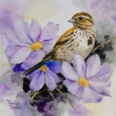 """Daily Paintworks - """"Lavender Romance"""" - Original Fine Art for Sale - © Paulie Rollins"""