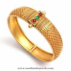 Gold Bangle Designs from Waman Hari Pethe Sons, Gold Antique Bangle Designs from…