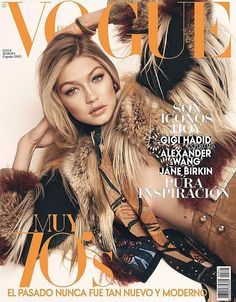 After appearing on the cover of Teen Vogue with Binx Walton, Gigi Hadid lands another cover for the March 2015 issue from Vogue Spain. The Sports Illustrated Swimsuit model. IM OBSESSED W GIGI Vogue Magazine Covers, Fashion Magazine Cover, Fashion Cover, Jane Birkin, Vogue Covers, Foto Fashion, 70s Fashion, Fashion Magazines, Fashion News