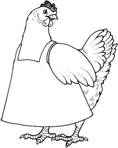 The little red hen coloring pages - Coloring Pages & Pictures - IMAGIXS