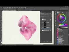 6. Watercolor Painting In Photoshop (including all tools, brushes, papers etc). Video 6