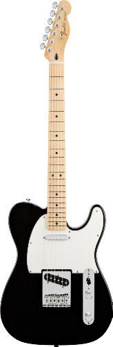 Fender Standard Telecaster® Electric Guitar, Black, Maple Fretboard -   Two Standard Tele single-coil pickups offer a great range of classic and contemporary tones perfect for Country, Blues, Rock, and Pop. With a modern C-shaped neck, 9.5 freeboard radius and medium jumbo frets, this neck feels fast and string-bending is a breeze. 6-saddle... - http://guitarsandmusicstore.com/fender-standard-telecaster-electric-guitar-black-maple-fretboard/ - http://guitarsandmusicst