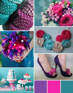 Wedding Colors Schemes Purple Teal 43 Ideas For 2019 Purple Wedding, Trendy Wedding, Dream Wedding, Whimsical Wedding, Wedding Stuff, Wedding Dress, Wedding Color Schemes, Wedding Colors, Color Inspiration