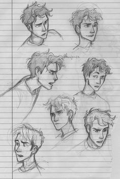 I love these drawings! I wish I could draw them as well as this artist......Percy Jackson ,many emotions