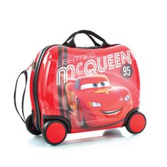 disney cars ride on luggage the ride on luggage is designed especially for