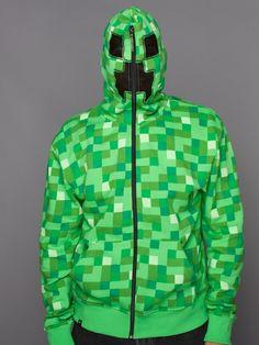 Darius and Joel- J!NX : Minecraft Creeper Premium Zip-up Hoodie - Clothing Inspired by Video Games & Geek Culture