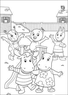 Backyardigans Fargelegging for barn. Tegninger for utskrift og fargelegging nº 55