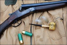 Christmas 1986, the last gun Daddy ever gave me. Nothing much to look at, Ithaca Flues Model, twelve bore, field...