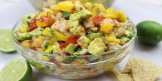 Recipes Snacks Videos Mango Shrimp Salsa recipe is so refreshing on a hot summer's night with your favorite healthy chips. My family is addicted! Shrimp Salsa Recipe, Shrimp Recipes, Salad Recipes, Diet Recipes, Cooking Recipes, Healthy Recipes, Ceviche Recipe, Appetizers For A Crowd, Seafood Appetizers