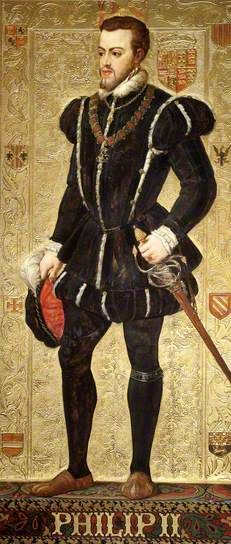 Philip II of Spain ( Queen Mary's I first husband) by Richard Burchett