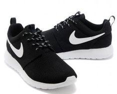 sneakers for cheap b29b4 54006 Nike Roshe Run Womens Black White Mesh shoes